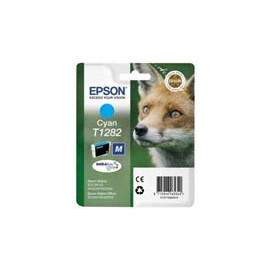 Cartucho de tinta  Original EPSON CIAN E1282, reemplaza a C13T12824010 - Imagen 1