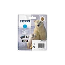 Cartucho de tinta  Original EPSON CIAN E2632, reemplaza a C13T26324010 nº26XL - Imagen 1