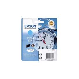 Cartucho de tinta  Original EPSON CIAN E2702, reemplaza a C13T27024010 nº27 - Imagen 1