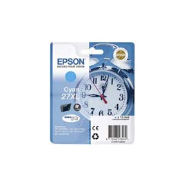 Cartucho de tinta  Original EPSON CIAN E2712, reemplaza a C13T27124010 nº27XL - Imagen 1